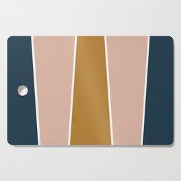 Retro Autumn Color Block Cutting Board