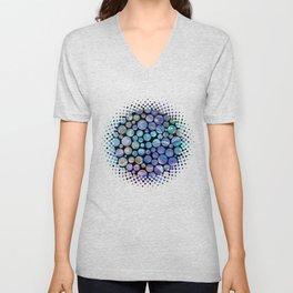 Marble Effect Dots 2 Unisex V-Neck