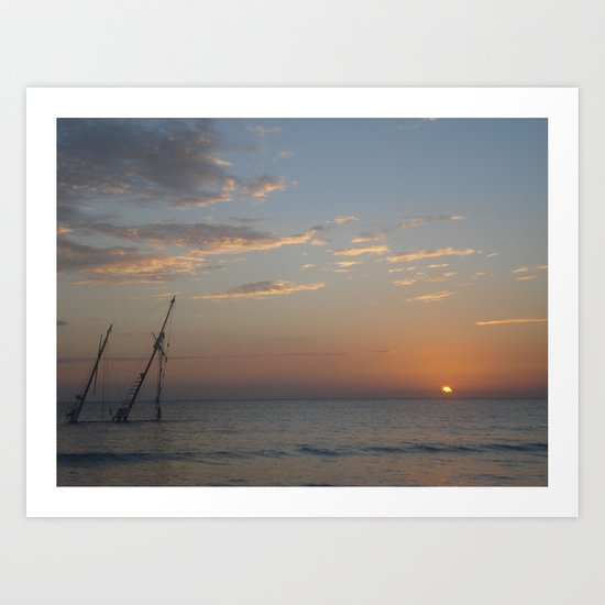 shipwrecked. Art Print