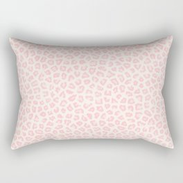 Modern ivory blush pink girly cheetah animal print pattern Rectangular Pillow