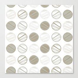 Dancing Grey Circles by Deirdre J Designs Canvas Print