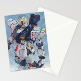 Nu Gundam watercolor Stationery Cards
