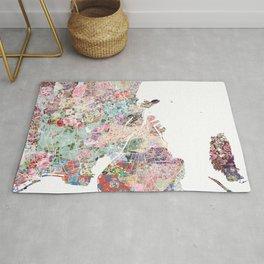 Copenhagen map Rug