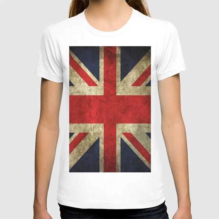 GRUNGY BRITISH UNION JACK  DESIGN ART T-shirt