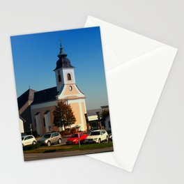 The village church of Kirchschlag | architectural photography Stationery Cards
