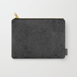 Black textured suede stone gray dark Carry-All Pouch