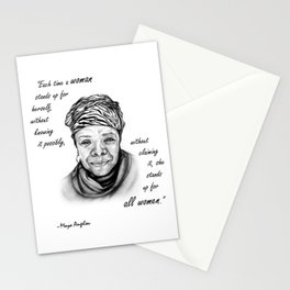 Feminist Art Maya Angelou Quote Stationery Cards