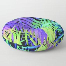 Pop Art Neon Leaf Pattern No. 2 Floor Pillow