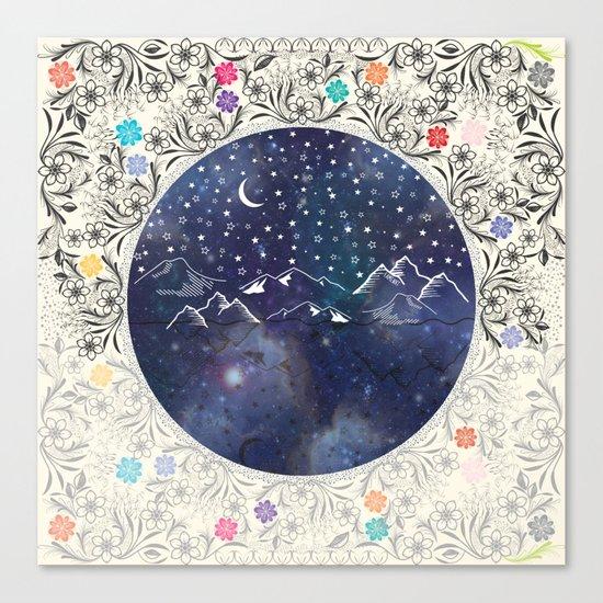 Beautiful starry night Canvas Print