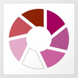 Lesbian Pride Flag Circle Art Print