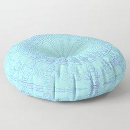 Mandala blue Floor Pillow