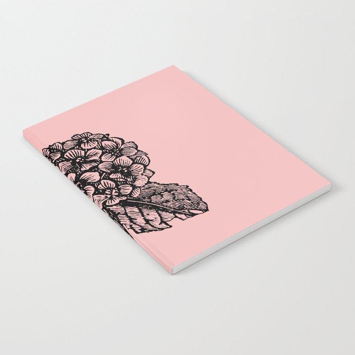Pink Hydrangea Notebook