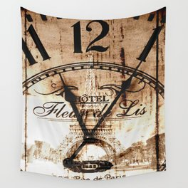 Vintage Paris Wall Tapestry