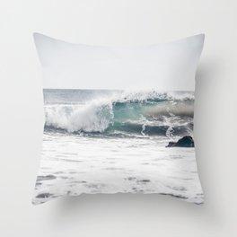 Malibu, mint, SoCal, beach photography, Los Angeles, beach, seaside, California, surf, California p Throw Pillow