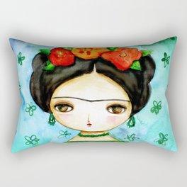 Frida And Her Tears Rectangular Pillow