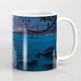 Tardis On The Sea Stone Coffee Mug