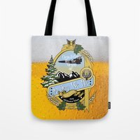 ale giorgini Tote Bags featuring So Say We Ale by Geekleetist