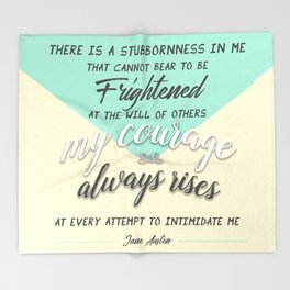 my courage rises Throw Blanket