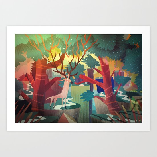 The forest God Art Print