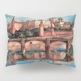 View of the Grand Kremlin Palace, Moscow, Russia by Pavel Sokolov-Skalya Pillow Sham