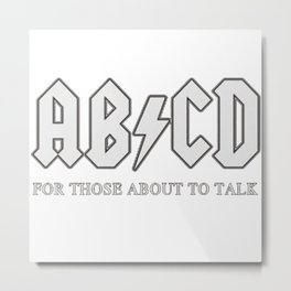 a b c d Metal Print
