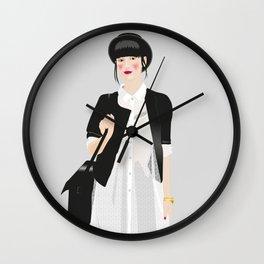 The girl Wall Clock
