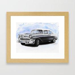 56 Chevy Framed Art Print