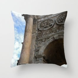 Arch Of Constantine, View 1 Throw Pillow