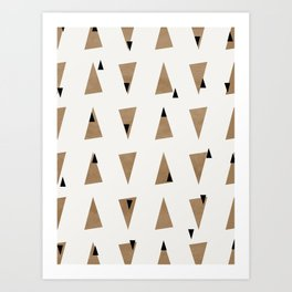 Triangles(Gold and Black) Art Print