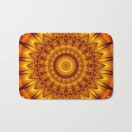 Mandala golden Sun Bath Mat