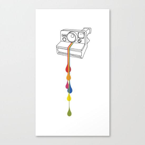 Polaroid Drips Canvas Print