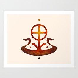 Summer Solstice - Solar Wheel Boat Art Print
