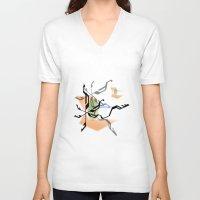 random V-neck T-shirts featuring Random by Robin Curtiss