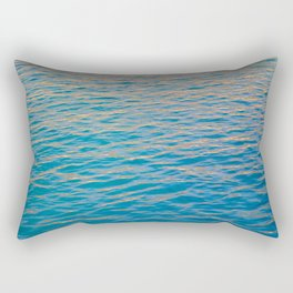 Sunset rays on the ocean Rectangular Pillow