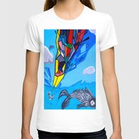transformer T-shirts featuring Trippy Transformer Bird Mixed Media Painting on Canvas by VibrationsArt