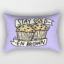 Stay Golden Brown Rectangular Pillow