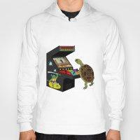 ninja turtle Hoodies featuring Arcade Ninja Turtle by Michowl
