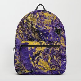 Abstract Amethyst  with gold marbled texture Backpack