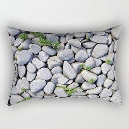 Sea Stones - Gray Rocks, Texture, Pattern Rectangular Pillow