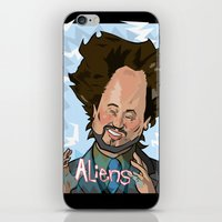 aliens iPhone & iPod Skins featuring Aliens by Slightly Absurd