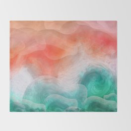 """Coral sand beach and tropical turquoise sea"" Throw Blanket"