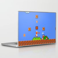 mario bros Laptop & iPad Skins featuring Super Mario Bros by Trash Apparel