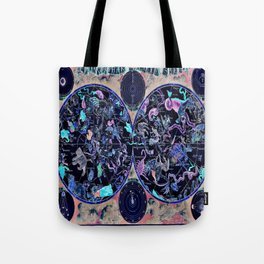 Vintage Celestial Map Tote Bag