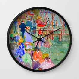 "Maurice Prendergast ""Swings, Revere Beach"" Wall Clock"