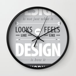 Design is how it works Wall Clock