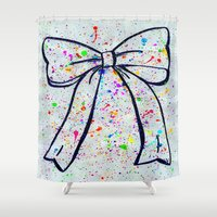 bow Shower Curtains featuring Bow by T. Tamaiiya