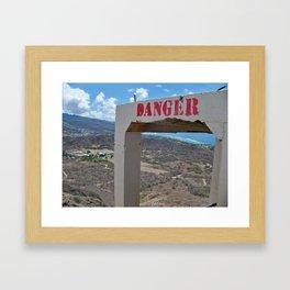 Danger ... Volcano! Framed Art Print