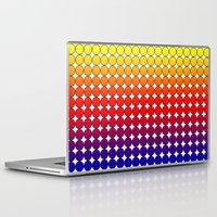 polka dot Laptop & iPad Skins featuring Rainbow Dot Candy Polka dot by ForgottenCotton