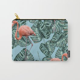 Whimsical Flamingo Pattern #society6 #decor #buyart Carry-All Pouch