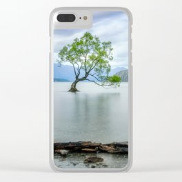 A story of beauty and survival at lake Wanaka, New Zealand. Clear iPhone Case